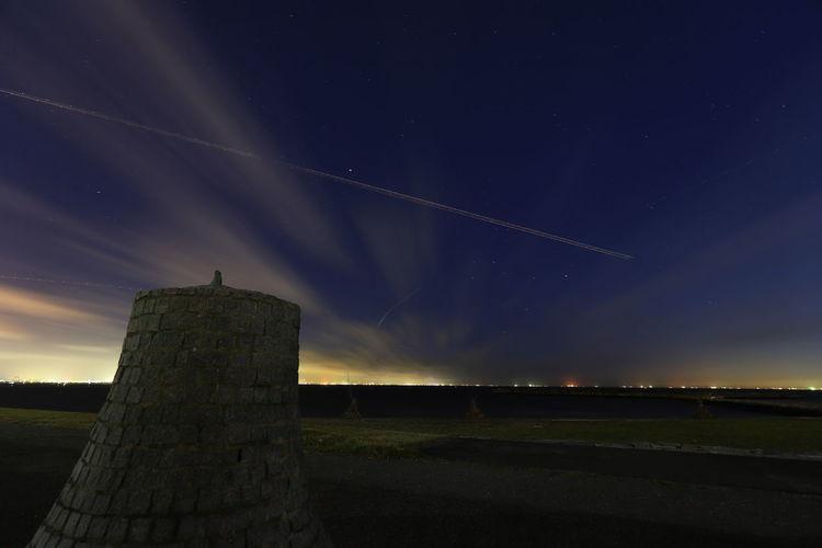 Hello World Tadaa Community Long Exposure Night Photography Contrail Night Lights Cloud - Sky No People 17.62°