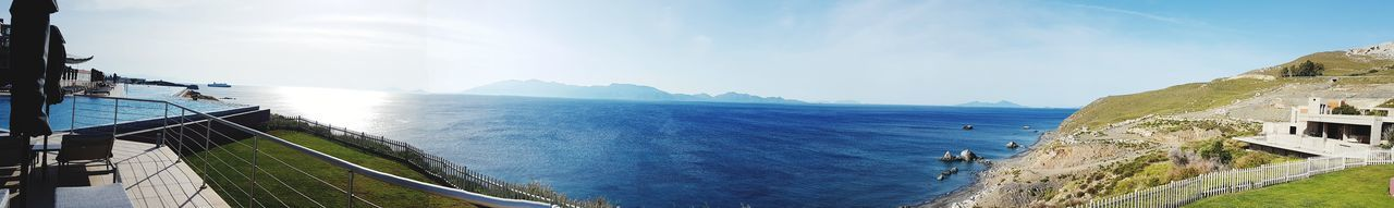Outdoors Day Sky Water Nature Samsung Galaxy S7 Edge Foto Greece Style Relaxation Luxury Sunlight Swimming Pool Sun Beauty In Nature Horizon Over Water Blue Vacations Nature Sea