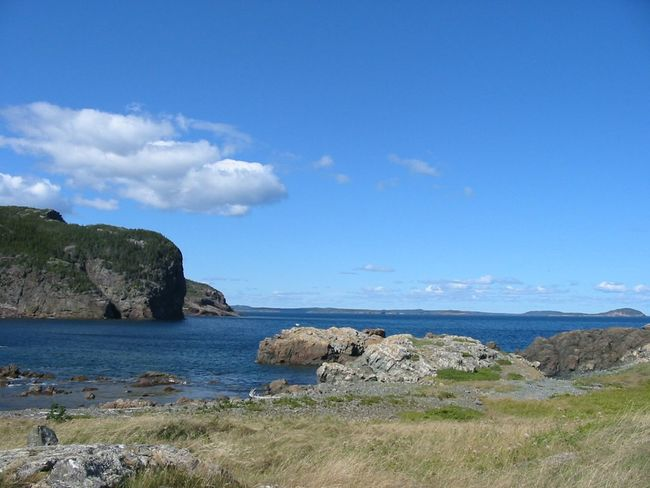 Rural Newfoundland scenes Beauty In Nature Blue Day Grass Landscape Nature Newfoundland Newfoundland, Canada No People Ocean Outdoors Rocks Rocks And Water Rural Saltwater Scenery Scenics Sea Seascapes Sky Tranquil Scene Tranquility Water