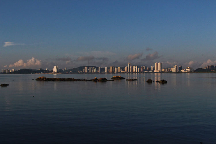 BEIJING北京CHINA中国BEAUTY Zhuhai Architecture Beauty In Nature Blue Day Nature Nautical Vessel No People Outdoors Reflection Scenics Sea Sky Tranquil Scene Tranquility Water Waterfront