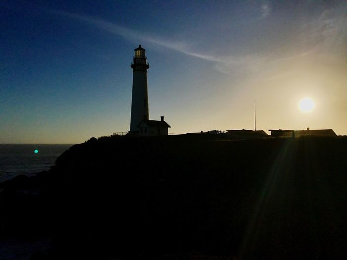 Pidgeonlighthouse Pidgeonpoint Lighthouse Sunset Silhouette Architecture Sky Guidance Built Structure Direction Building Exterior Nature Outdoors Low Angle View No People Beauty In Nature Day Neighborhood Map