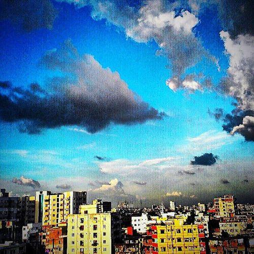 Instadhaka Instadaily Instacloud Cloud Cityscape Skyscape Agaz Colorful Blue Instagood Instago BeautifulBANGLADESH