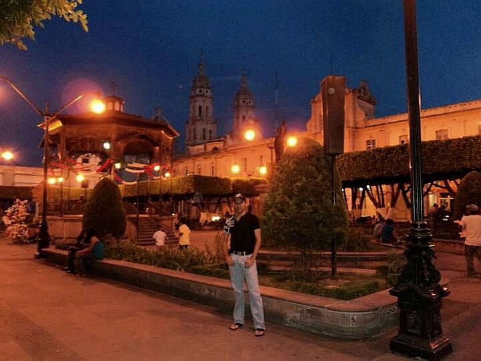 Sahuayo, Mich. MX.Illuminated Architecture Travel Destinations Only Men History Architecture Tourism One Person