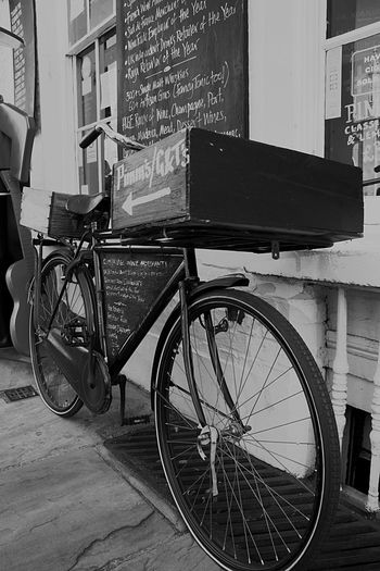 Transportation Bicycle Outdoors Stationary EyeEm Gallery EyeEm Best Shots - Black + White Vintage Wines United Kingdom Mode Of Transport