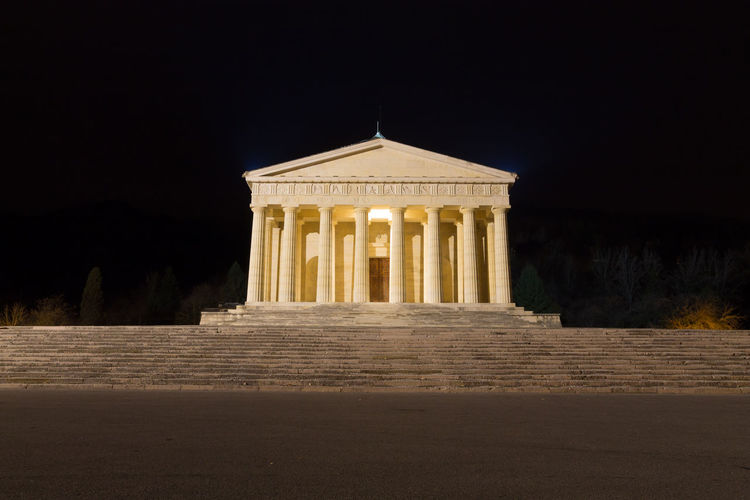 Temple of Canova night view, Possagno, Italy Possagno Possagno Italy Canova Italy Italy❤️ Canova Antonio Canova Temple Temple - Building Temple Architecture Architecture Architecture_collection Architectural Column Night View Roman Landmark Landmark Building Built Structure Night Travel Destinations Memorial Building Exterior Neo-classical No People Staircase Illuminated