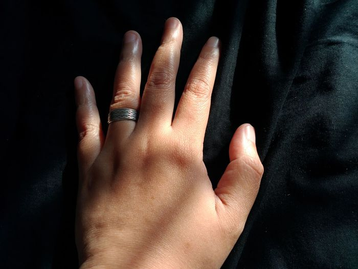 EyeEm Selects Human Hand Black Background Studio Shot Fingernail Close-up Human Finger Complexion Finger Human Skin Personal Perspective Human Body Attractive Ring Index Finger Obscene Gesture Thumb