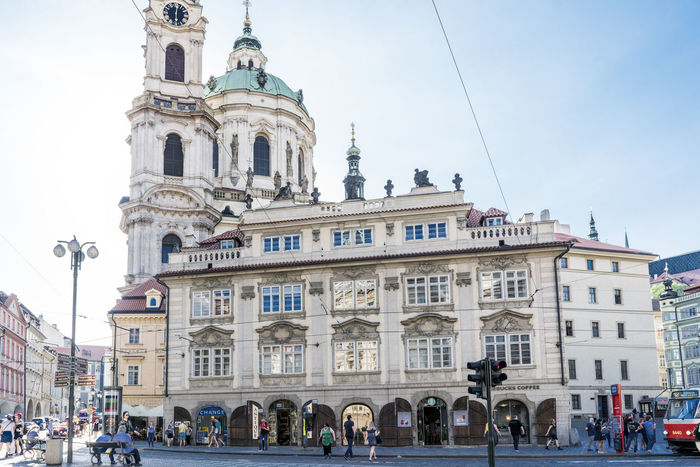 Views of the main monuments and streets of Prague, in the Czech Republic Amazing View Architecture Bohemian Building Exterior Built Structure Capital Cities  Day European  Façade History Landscape Large Group Of People Low Angle View Men Outdoors People Place Of Worship Real People Religion Sky Spirituality Street Summer Travel Destinations