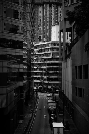 Street amidst buildings in city