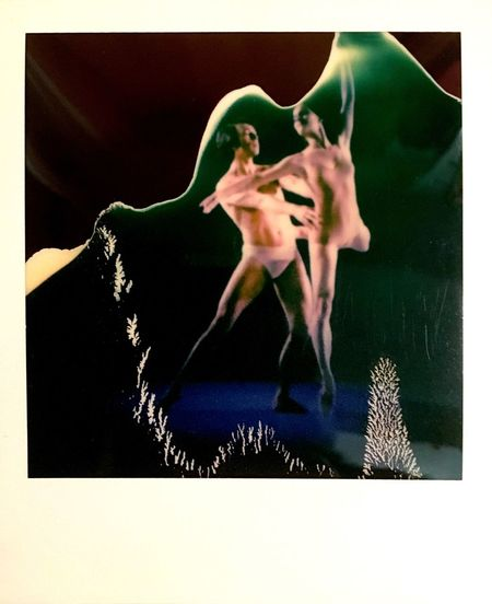 Ballett Adagio on a Polaroid Failed Work Polaroid Polaroid Art Ballett Ballet Dancer Auto Post Production Filter Transfer Print