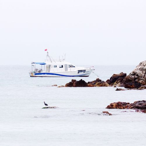 Transportation Nautical Vessel Sea Clear Sky Dapeng Seascape Leisure Activity Shenzhen.China Discover Your City Taking Photos Tranquil Scene Day Outdoors Water Nature No People Beauty In Nature Sky Animal Themes