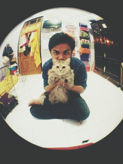 Cat Fisheye Selfie Hi!