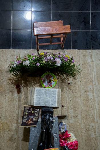 Flowers on table