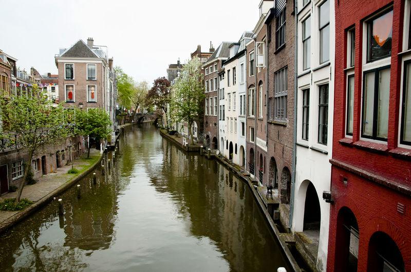 Canal in Utrecht City Netherlands Canal City Holland Utrecht Waterfront