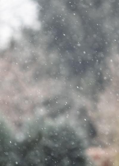 Full frame shot of raindrops on snow