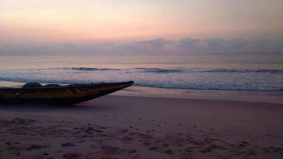Early Morning Waiting For Sunrise Vizag Sea Beach Sky Tranquility No People Sand Nature Beauty In Nature Outdoors Nofilter Perspectives On Nature