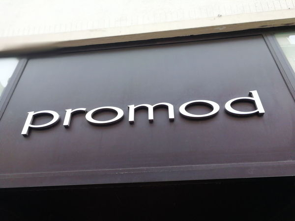 Promod store signage. Promod is an originally French chain of women's fashion stores, with more than 1,000 sale points and 5,000 employees in some 50 countries Boutique Clothes Store Fashion Shopping Shopping ♡ Close-up Clothes Shopping Clothing Shop Clothing Store Commercial Sign Information Sign Mall No People Outlet Promod Shop Shopping Mall Sign Store