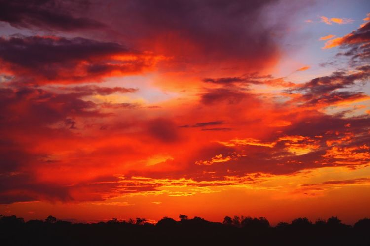 Aftermath Sunset Sky Beauty In Nature Scenics Cloud - Sky Orange Color Tranquil Scene Tranquility Idyllic Silhouette Awe Dramatic Sky No People Outdoors Canon EyeEm EyeEmBestPics EyeEm Best Shots (null)EyeEm Gallery EyeEm Best Edits Travel Composition Sky And Clouds Amazing