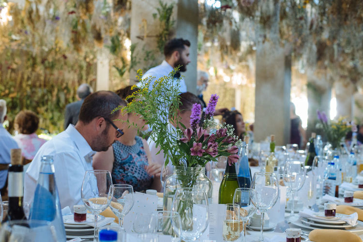 Blossom Botany Bouquet Decoration Decorations Dry Flower  Eating Extremadura Flowers Focus On Foreground Freshness Guests Lunch SPAIN Spanish Table Wedding