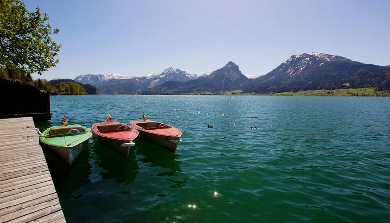 Mountain Nature Water Beauty In Nature Lake Sky Outdoors No People Waterfront Tranquil Scene Pedal Boat Boat