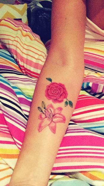 My tattoo! Rosé Lily Tattoo Forearm Tattoo