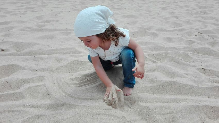 141/365 Sand Child Children Only Childhood Beach Looking Down One Person Girls One Girl Only Summer Full Length Vacations Day People Casual Clothing Nature Sand Pail And Shovel Outdoors Desert Barefoot