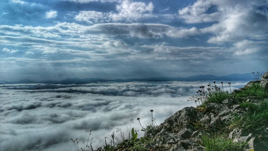 Horizon Over Clouds Beauty In Nature Hiking Tranquil Scene Nature Sky Landscape Cloud - Sky