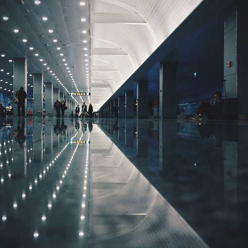 In The Terminal Vscocam Reflection Strangersinmyfeed