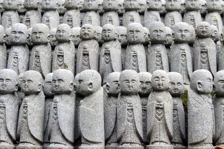 Full frame shot of buddha statue outdoors