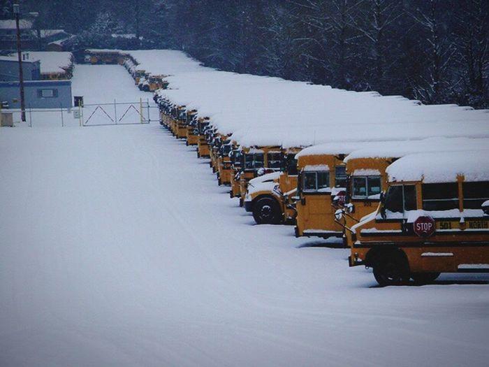 Worst snow storm 2007 School Buses I Love Snow Days Check This Out Taking Photos Enjoying Life EyeEm Gallery Suprise♡ Fun Times ^_^ EyeEm Best Shots Oregon No People , WINTER Vanishing Point