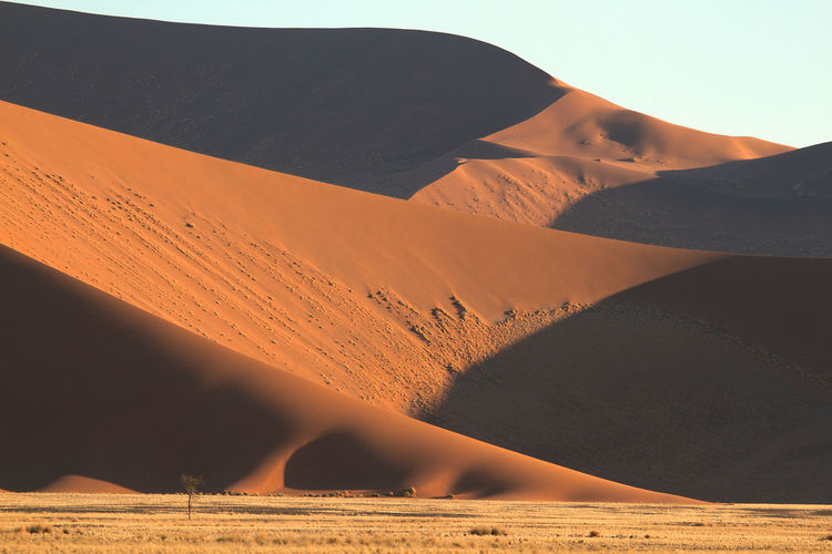 Colourful Namibian desert in Africa. Arid Climate Atmospheric Beauty In Nature Climate Day Desert Environment Land Landscape Mountain Nature No People Non-urban Scene Outdoors Remote Sand Sand Dune Scenics - Nature Sunlight Tranquil Scene Tranquility Travel Destinations
