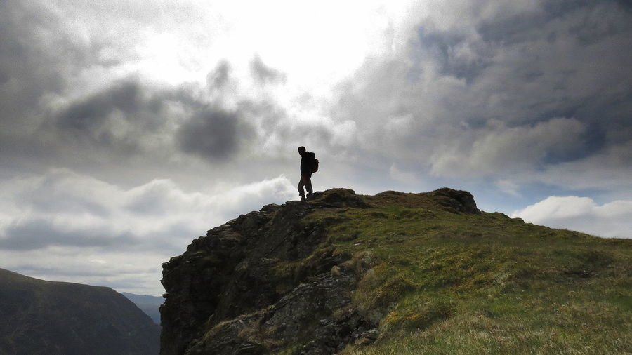 Sky Cloud - Sky Silhouette Only Men One Man Only Hiking Outdoors Full Length Standing Landscape Grassmoor Craggs The Great Outdoors - 2018 EyeEm Awards