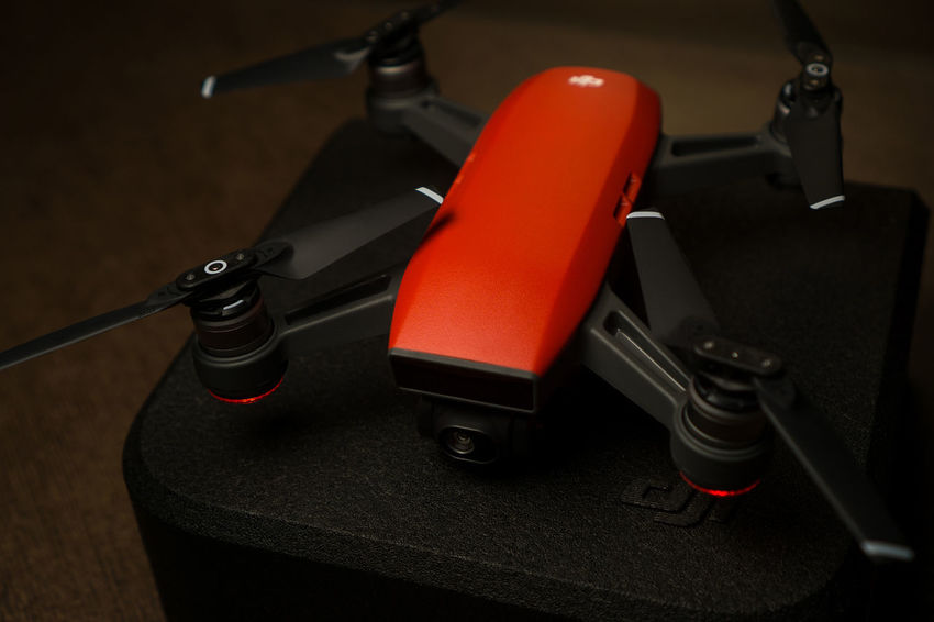 The New DJI Spark Red Color Drone  GPS NO FLY ZONE New Technology Quadcopter Remote Control Tree Aerial Photography Close-up Dji Dji Spark Dronephotography Firmware Update Gesture Glonass Hovering Landscape Wifi
