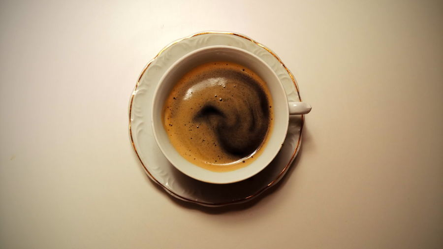Drink Frothy Drink Tea - Hot Drink Mocha Directly Above Coffee Break Coffee - Drink Saucer High Angle View Coffee Cup
