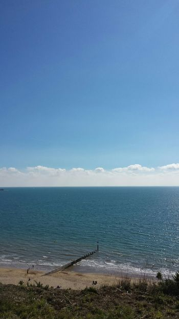Enjoying The Sun Taking Photos Enjoying The Sights Sea Bournemouthpier Uk