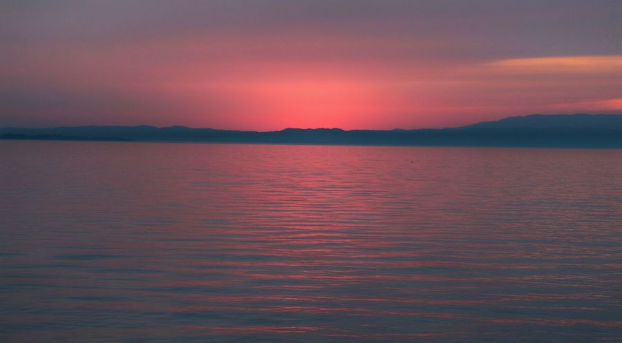 Tramonto rosa Italy Lake Garda Lake Lazise Lake Pinklake Pink Sera Lazise Lake Garda EyeEmNewHere Lake Front Lagoon Water Sea Landscape