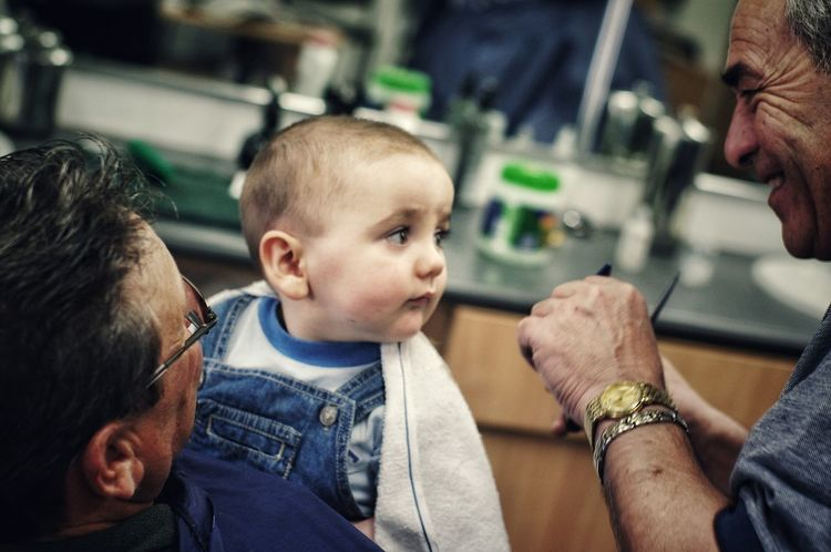 Still not sure about having his first hair cut. Kids Being Kids Hair Salon Haircut Kidsphotography Hairsalon People Photography Showcase June