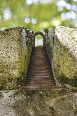 Death Gate Heaven Heavenly Heavens Gate Architecture Eternity Heaven On Earth History Metal Moss Nature No People Outdoors Solid Staircase Tranquility