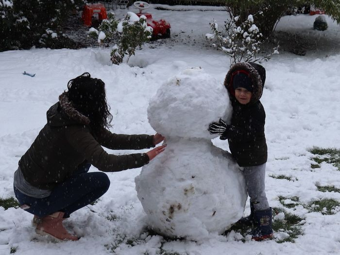 Snow Winter Cold Temperature Childhood Child Girls Nature