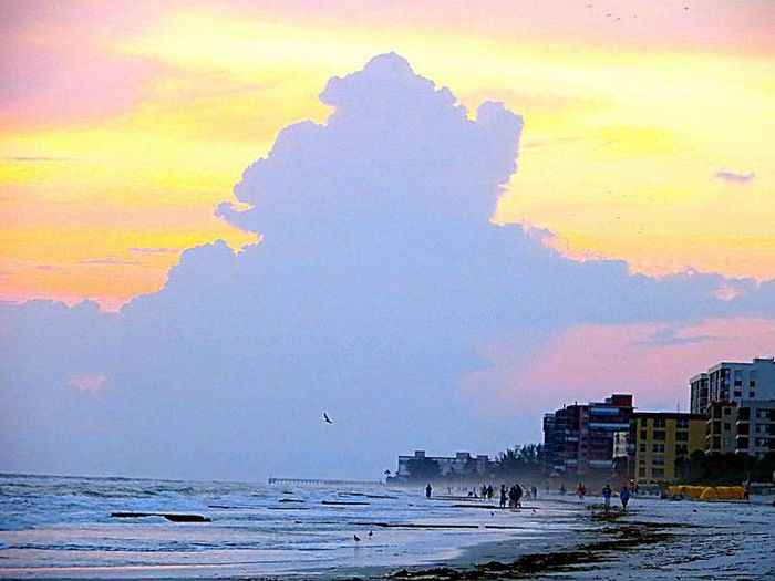 Beach Life. Beauty In Nature Cloud - Sky Colorful Sky Dusk Idyllic Indian Rocks Beach, FL Majestic Sky Ominous Beauty Pastel Power Sky Sunset Tranquility