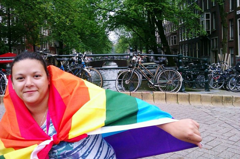 Pride in Amsterdam River Amsterdam Amsterdam Canal Lgbt Lesbian Pride Lesbiansofinstagram Amsterdam Pride Flag Flag Rainbow Flag This Is Queer City Tree Bicycle Building Exterior Bicycle Rack Parking Cycling Mountain Bike Footbridge Bicycle Basket Racing Bicycle Summer Exploratorium Visual Creativity Adventures In The City