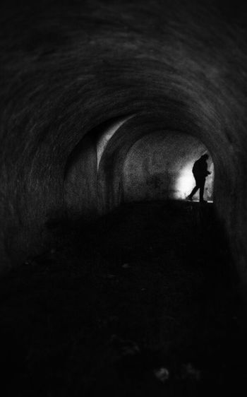 Arch Indoors  Tunnel Men The Way Forward Unrecognizable Person Dark Light - Natural Phenomenon Architecture Light At The End Of The Tunnel Archway Arched Vacations Tourism Light At The End Of Tunnel Underpass People And Places Kerch KerchCrimea Fortress Kerch Crimea