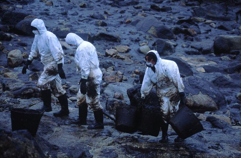 Men standing on shore