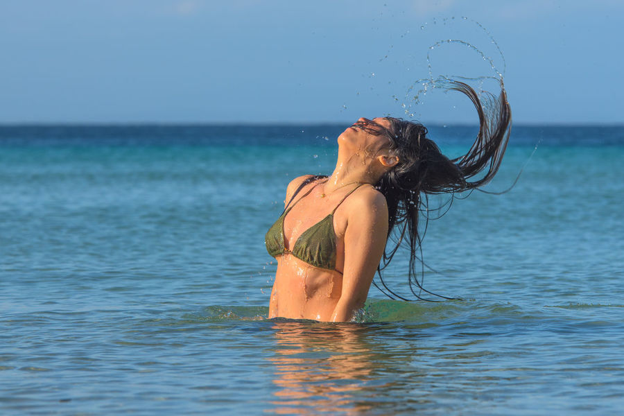 Splashing hair Beauty In Nature Copy Space Girl Hair Let Your Hair Down Model Nature Outdoors Pretty Splash Swimming Water Done That.
