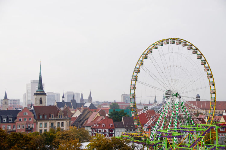Cityscape Dom Jahrmarkt Postcode Postcards Rethink Things Second Acts Amusement Park Architecture Arts Culture And Entertainment Building Exterior Built Structure City Cityscape Clear Sky Day Dome Ferris Wheel No People Outdoors Sky