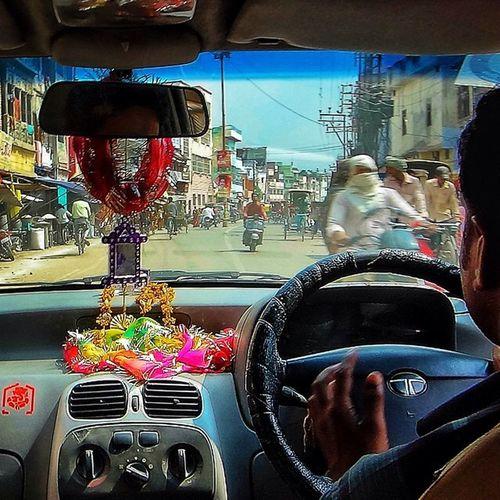 On my Ride to Varanasi India POV Taxi Cab Varanasi India Instamoto Photooftheday RideOut Motorcycle Bikestagram Bikelife Bike CC Helmet Motorcycles Cruisin Instamotogallery Streetbike Exoticcar Tire Freeway Vehicle Speed Drive exoticcars highway wheels