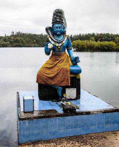 Hindu God Day God Hinduism Lake Mauritius Nature No People Outdoors Statue Water