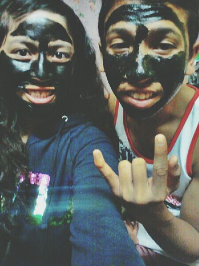 Me And My Lil Bro.we Done For Our Masking Face.sleep Tight Ouls