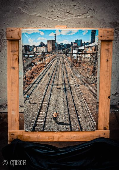 Architecture Built Structure City Day Diminishing Perspective Empty Frame Framed Maboneng Precinct Nature No People Outdoors Sky The Way Forward Wood - Material Wooden