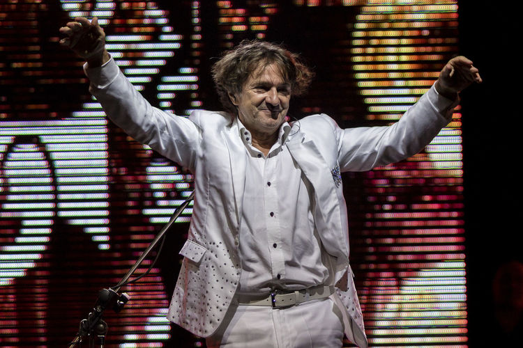 Guca, Serbia, Trumpet Festival, concert of Goran Bregovic Bregovic Casual Clothing Concert Concert Photography Cultural Event Front View Guca Music One Person Serbia Stage Trumpet Festival