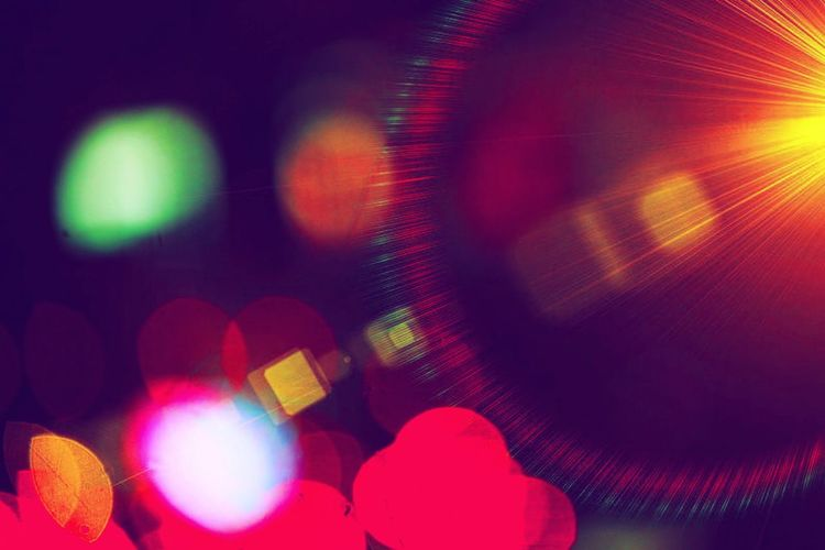 Bokeh Art... Cypherz... Multi Colored Red Defocused Illuminated Backgrounds Light Effect Technology Neon Outdoors Arts Culture And Entertainment Fun Happiness Color Portrait Rainbow Pastel Colors Sunset City